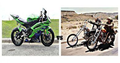 Yamaha R6 vs Harley Davidson 1