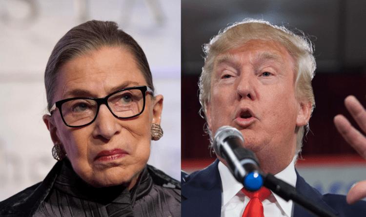 Ruth Bader and Trump wordpress