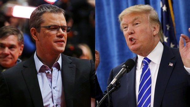 Matt Damon Defends Donald Trump