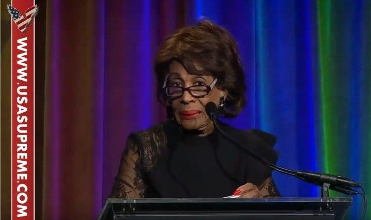 WATCH: Libtard Maxine Waters Threatens To 'Take Trump Out' Tonight! This Might Trigger Code Title 18, Section 871 Threatening The President Of The United States Is a Class E Felony