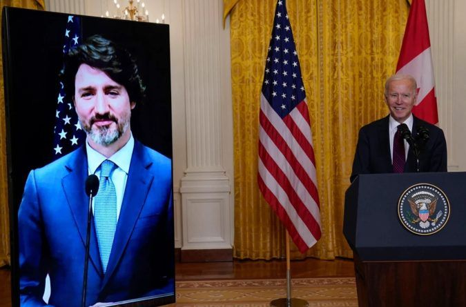 """Biden's """"Teleprompter"""" Fails Again During His First Foreign Meeting With Canada's Justin Trudeau, Prompting Series of Verbal Gaffes – No MSM Coverage (Video)"""