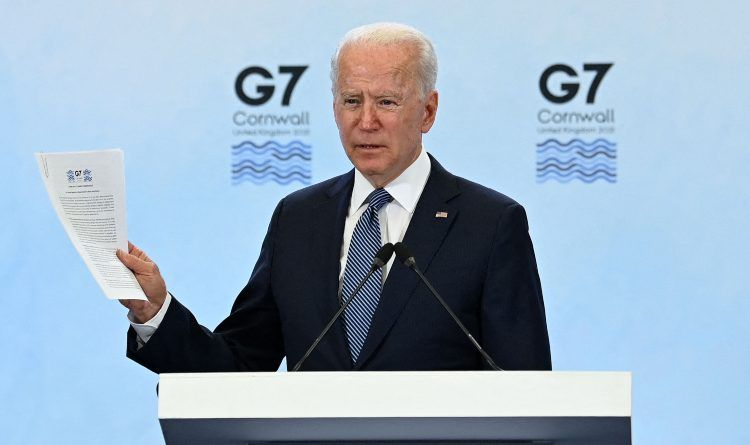 Video: Joe Couldn't Make It Without Mentioning Trump At The G7 Summit – Notice Where The Bell Goes Off And He Goes Off Script