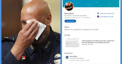 Capitol Police Officer Testifies To The Racism He Faced During The Jan. 6 Riot – His Linkedin Profile Picture Reveals That He Is Just Another Political Actor