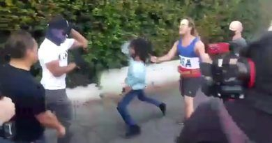 Video: Antifa Journalist Tries To Attack A Black Trump Supporter At A Protest In West Hollywood – Receive Instant Justice