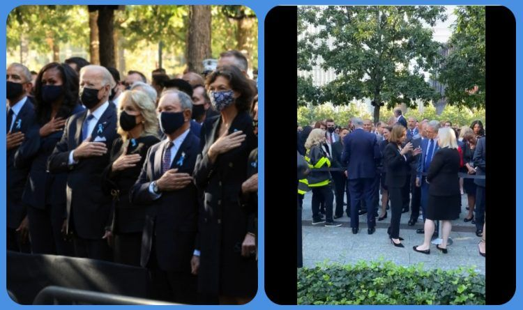 The Democrats Hypocrisy Caught On Cell Phone Video Before The MSM Camera Crew Went On Air During The 9/11 Ceremony