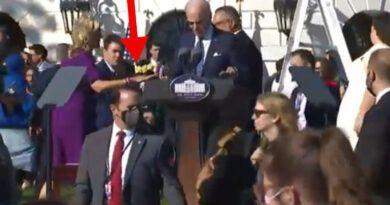 Biden Tries Talking Into Microphone While Music Is Still Blasting – Nurse Jill Had To Intervene (Video)