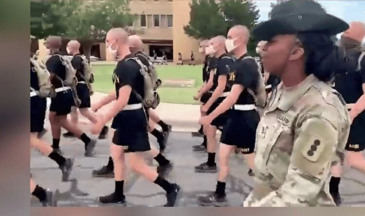 "Black Female Drill Sergeant Leads U.S. Soldiers Wearing Masks Outside In ""Woke"" Chant About MLK (Video)"