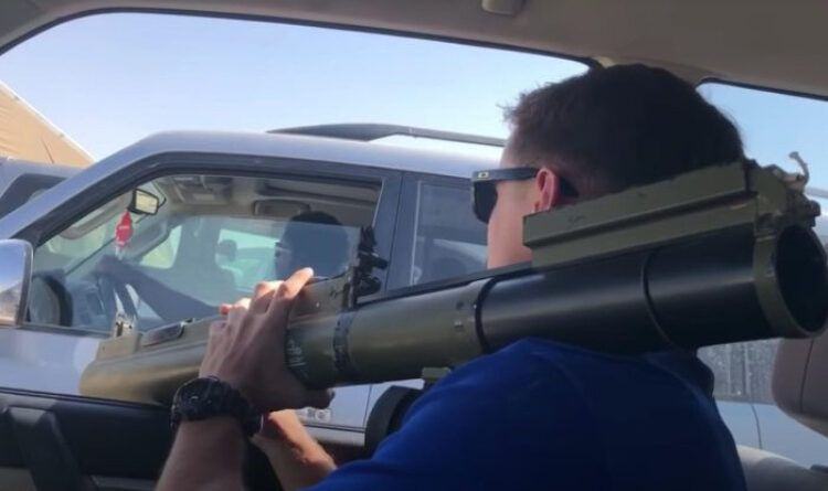 Man With Rocket Launcher Proves Picking A Fight On The Road Isn't Smart (Video)